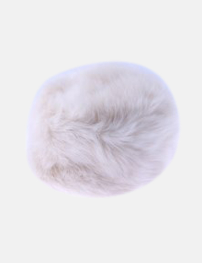 Gorro pelo sintético blanco