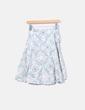 Falda beige y azul floral combinada Hoss Intropia