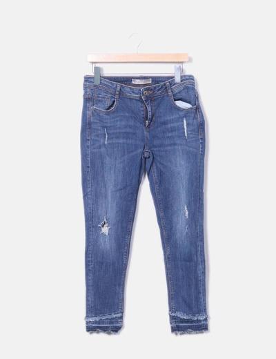 Jeans bleus avec cassé Zara