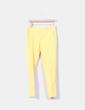 Pantalón sarga amarillo Zara