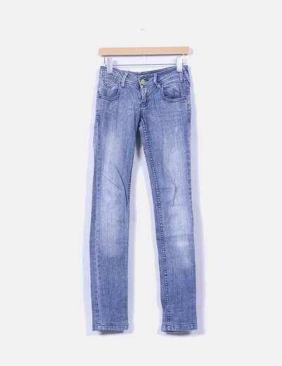 Jeans denim pitillo azul medio Pull&Bear