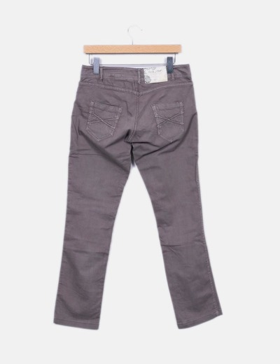 Pantalon recto marron