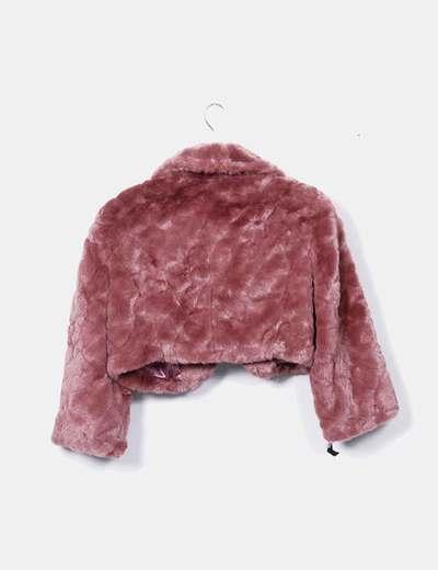 en venta 8c498 1d9a7 Chaqueta rosa pelo