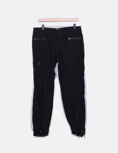 Pantalón baggy negro Mango