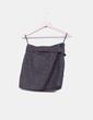 Mini falda de lana con cinturón Venca