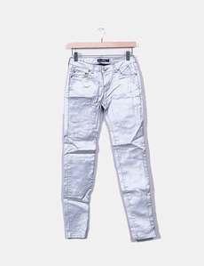 Pantalón pitillo plateado Lefties 1ef01a442781
