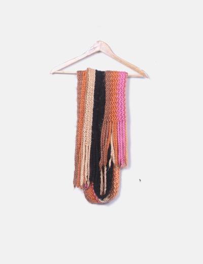 Bufanda de punto tricolor