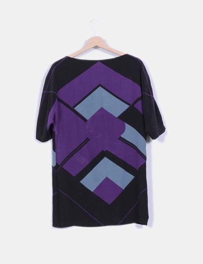 Vestido multicolor con estampado geometrico