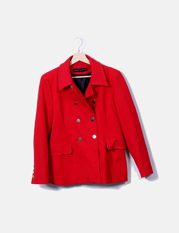 Chaquetas Rojo Online Y Botonadura Zara Mujer De Doble Abrigo drHrqB