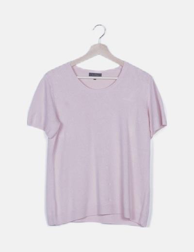 Jersey rosa manga corta