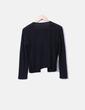 Chaqueta tricot negra combinada con antelina NoName