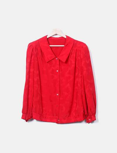 Camisa roja manga abullonada NoName