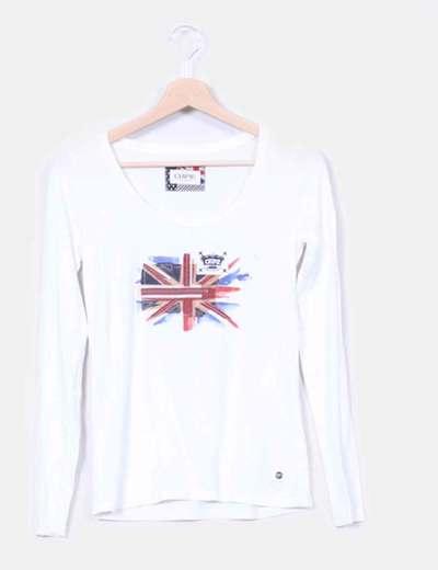 T-shirt blanc drapeau Chipie