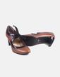 Zapato de tacón marrón lazo Fosco