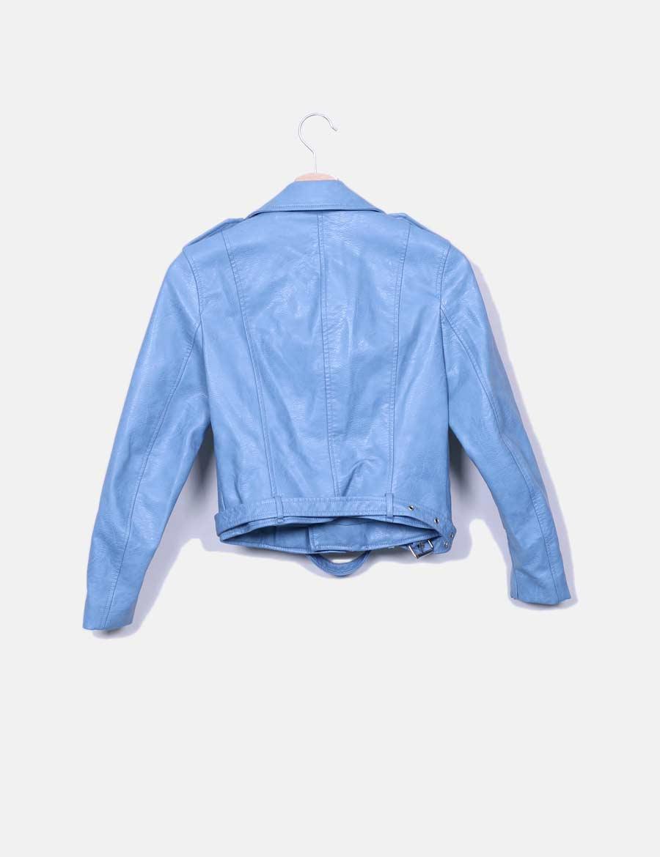 Online De Baratos Zara Chaquetas Chaqueta Abrigos Y Azul Mujer Biker 0kPnO8w