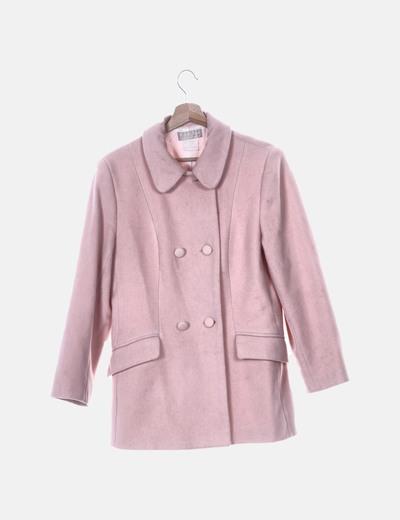 Abrigo de paño rosa