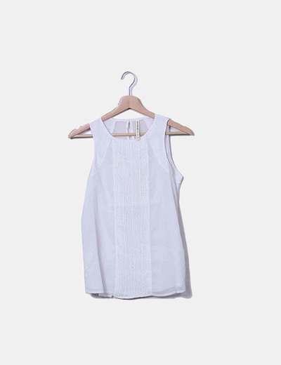 Blusa blanca con topos glitter