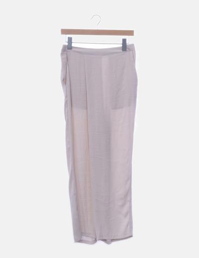 Pantalón fluido cruzado
