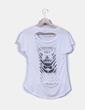 Camiseta blanca print letras Atmosphere