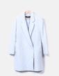 Abrigo largo azul claro abotonado Zara