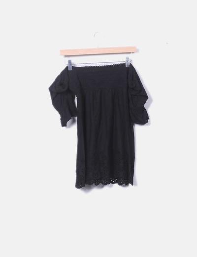 características sobresalientes 100% autenticado baratas para descuento Blusa hombros descubiertos negro