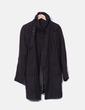 Abrigo marrón abotonado Zara