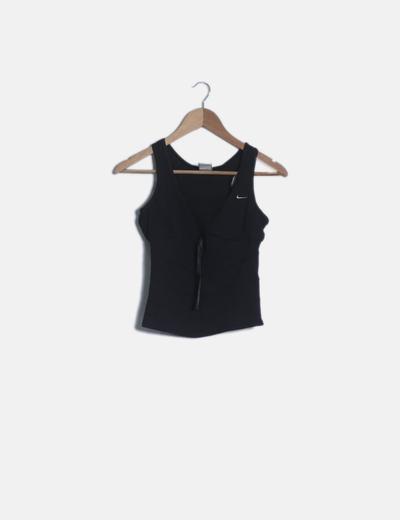 Camiseta nadadora negra plumetti