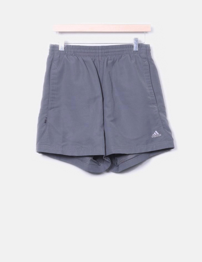 Pantalons gris de sport courts Adidas