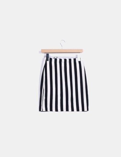 Mini falda rayas negras