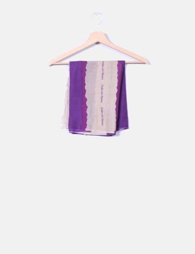 Pañuelo de rayas bicolor Pedro del Hierro