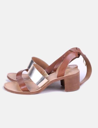 Chaussures deux couleurs à talons Zara