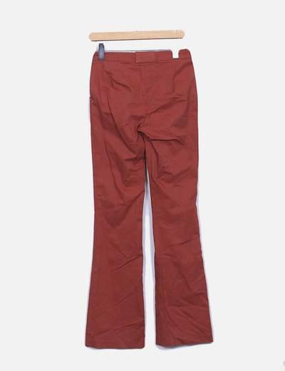 Pantalon recto teja