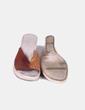 Sandalia marrón de cuña Pitillos