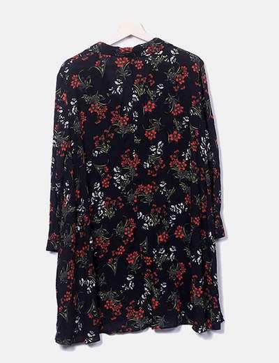 9a658cc008b Zara Vestido camisero floreado (descuento 64 %) - Micolet