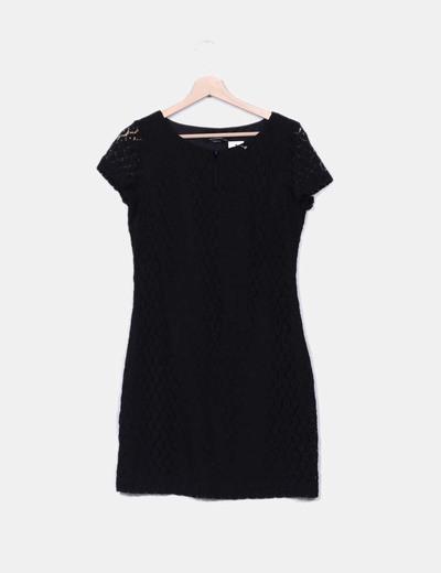Black guipir dress C&A