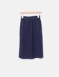Falda midi azul marino con bolsillos Zara
