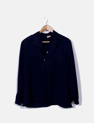 Fluid shirt navy blue NoName