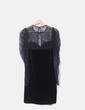 Vestido negro combinado velvet Mango