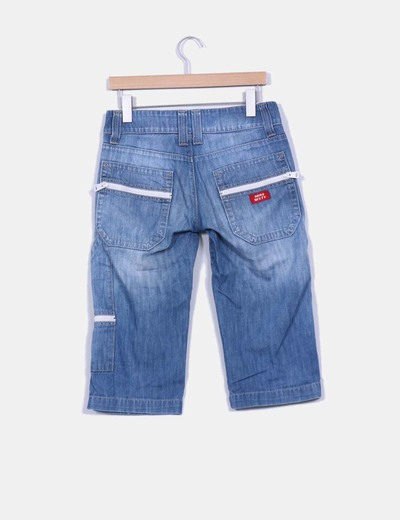 Pantalon pirata denim