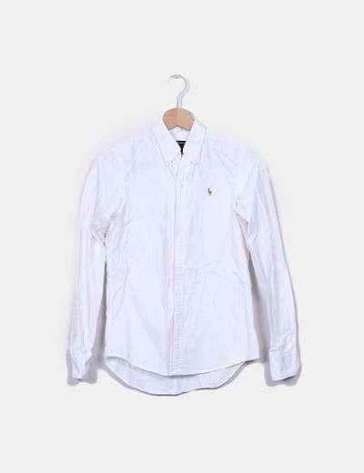 Camisa blanca con botones Ralph Lauren