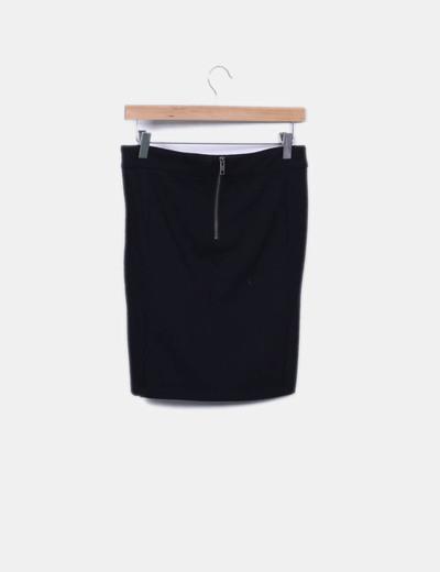 Minifalda combinada con punto