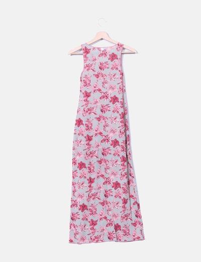 Vestido maxi tul floral