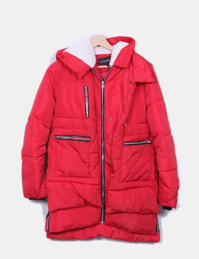 Veste rouge matelassée imperméable NoName