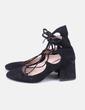 Black shoes lace up Zara