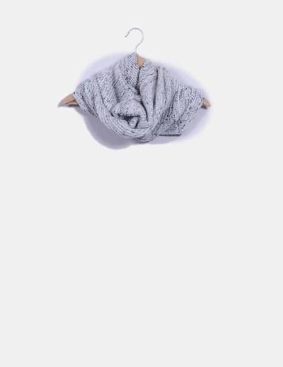 Cuello gris jaspeado con gorro Oysho