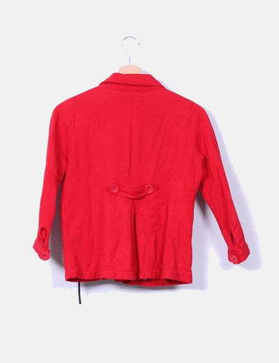 Chaqueta algodon roja doble botonadura