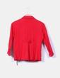 Chaqueta algodón roja doble botonadura Stradivarius
