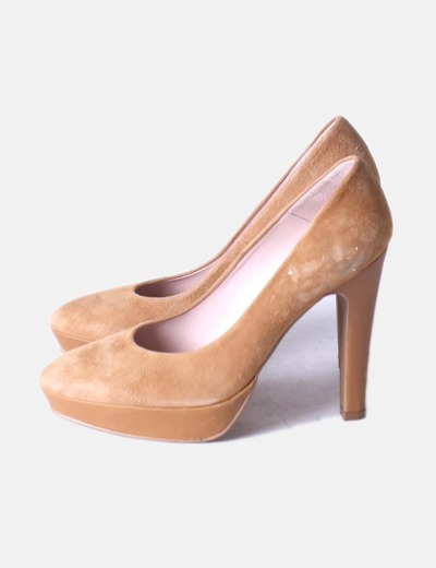 Zapato camel serraje con plataforma NoName