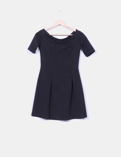 Vestido negro texturizado Suiteblanco