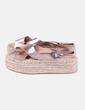 Sandales de corde avec la plate-forme Stradivarius